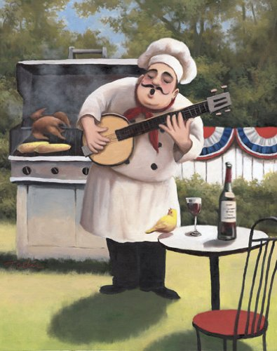 jolly fat chefs vintage posters kitchen decor set of 4 posters 8 - Kitchen Chef Decorations