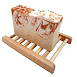 rooty culture natural organic handmade oatmeal milk and honey 5oz artisan soap bar with bamboo soap