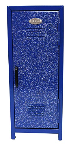 Glitter Mini Metal Locker With Lock And Key (Blue) by SNInc.