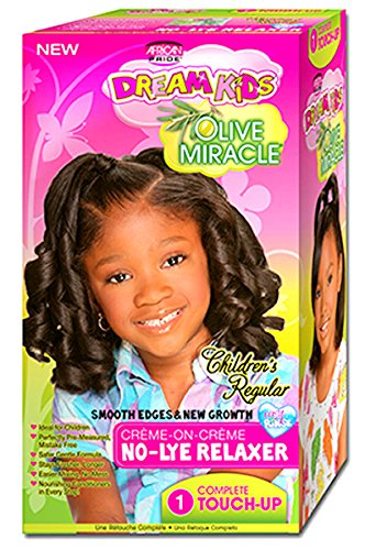 African Pride Dream Kids Olive Miracle Touch-Up Relaxer, Regular