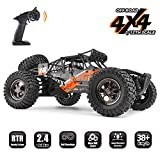 RC Cars Protector 1/12 Scale 4WD Off-Road Buggy 38+KM/H High Speed LED Lights, 2.4 GHz Radio Controlled All Terrain...