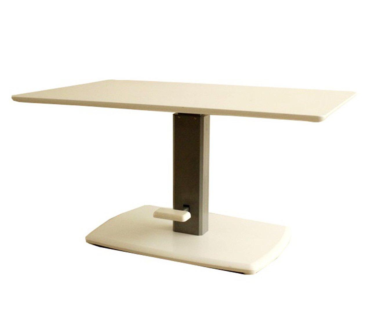 AHEART 昇降テーブル 幅120㎝ ガス圧ペダル 無段階 リフトテーブル SI 334 ホワイト B079KZHLN7 ホワイト ホワイト