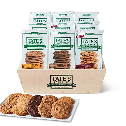 Tate's Bake Shop Cookies, Gluten Free Variety Holiday Gift Basket, 9Count