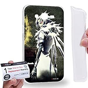 Case88 [Samsung Galaxy J7] Gel TPU Carcasa/Funda & Tarjeta de garantía - D.Gray-man Exorcist Allen Walker Nea Walker 14th Noah Crown Clown 2051