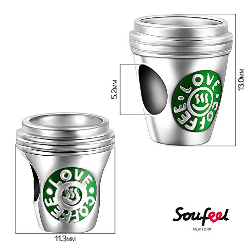 SOUFEEL Love Coffee Charms 925 Sterling Silver Charm for European Bracelets Friend Gift by SOUFEEL (Image #5)