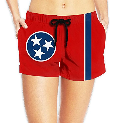 (Women's Elastic Lounge Shorts Tennessee Beach Shorts)