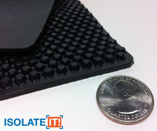 Isolate It!: Sorbothane X-Tra Flex Acoustic Vibration Damping Sheet Stock (3/16 x 12 x 14in) 50 Duro - 1 Sheet by Isolate It! (Image #1)