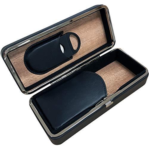 Prestige Import Group - 3 Cigar Folding Travel Case - Color: Black