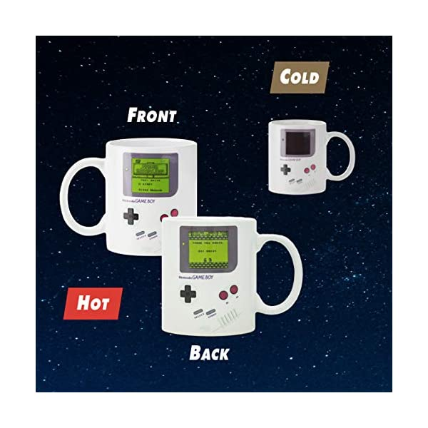 Paladone Gameboy Heat Changing Coffee Mug Gift For Gamers Fathers Coffee Enthusiasts