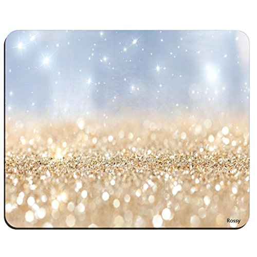 Rainbow Optical Mouse - Rainbow Glitter Background Non-Slip Rubber Mousepad Gaming Mouse Pad Mat 02