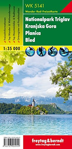 Read Online Slovenia WK5141: Triglav National Park - Kranjska Gora-Planica-Bled (Walking Maps) 1:35K (English, French and German Edition) pdf epub
