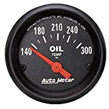 "Auto Meter 2639 Z-Series 2-1/16"" Short Sweep Electric Oil Temperature Gauge"