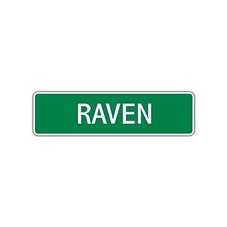 Amazon.com: Cartel de aluminio con el nombre de Raven para ...
