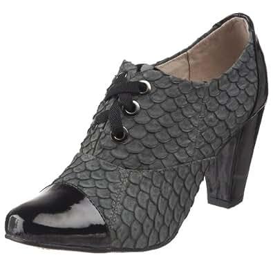 ALL BLACK Women's Fish Tie Patent Toe & Heel Fish Pump,Green,36 EU / 6 B(M) US