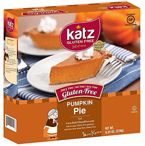 Katz Gluten Free Pumpkin Pie, 8.25 Ounce, Certified Gluten Free - Kosher - Dairy, Nut & Soy free - (Pack of 1)