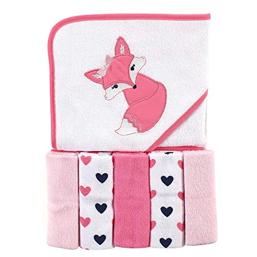 Luvable Friends Unisex Baby Hooded Towel with Five