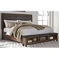 Signature Design by Ashley B594-57 Ralene Upholstered Panel Headboard, Queen, Brown