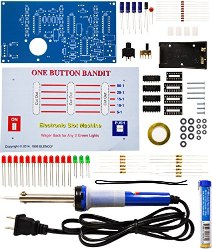 - Elenco  One Button Bandit Soldering Kit with Iron and Solder