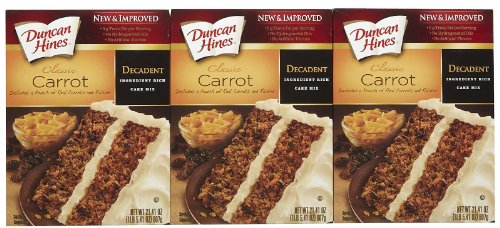 Duncan Hines Moist Deluxe Decadent Carrot Cake Mix, 21.41 oz, 3 pk