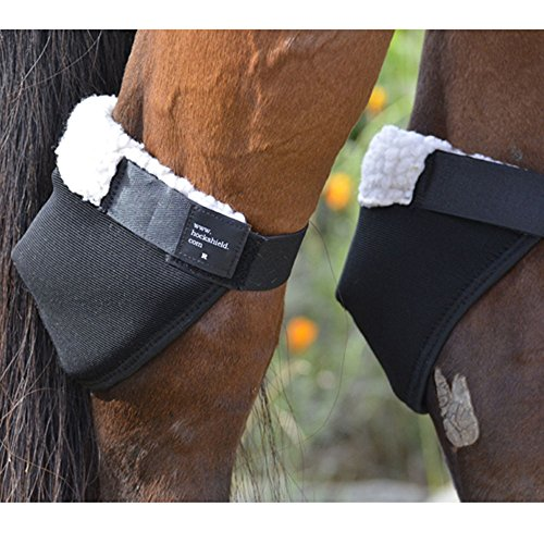 Ultra Sheepskin Boots - Intrepid International Hock Shield Protector, Horse