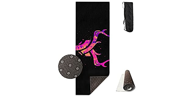 Amazon.com: Art Pink Antlers Deer Black ECO Aqua Power Kinematic Iyengar Kundini Hot Pilates Gymnastics Hatha Yoga Mat Exercise Mat: Home & Kitchen