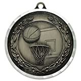 Basketball Award Sports Bulk Medal - Silver