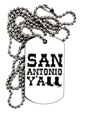 TooLoud San Antonio Y'all - Boots - Texas Pride Adult Dog Tag Chain Necklace
