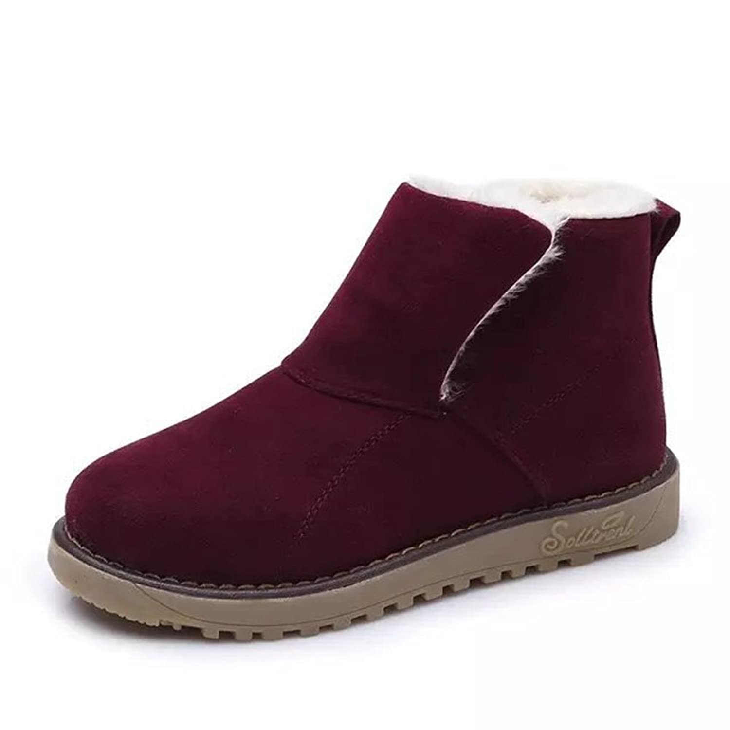 Women's Fashion Snow Boot Warm Winter Student Short Tube Casual Wedge Ankie Sneakers By Btrada