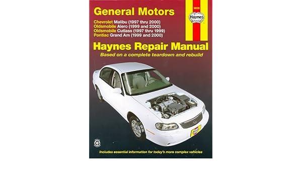 gm malibu alero cutlass grand am 97 00 haynes repair manual rh amazon com pontiac grand am 1999 manual de usuario 1999 pontiac grand am repair manual free download