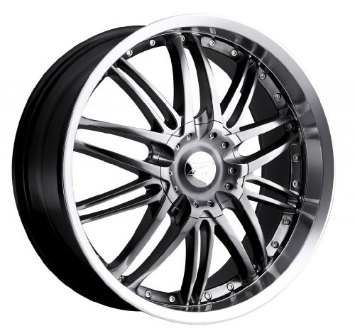 (Platinum 200HB Apex FWD Hyper Black with Diamond Cut Lip and Clear Coat Wheel with Painted Finish (16 x 7. inches /5 x 108 mm, 20 mm Offset) )