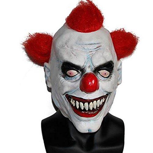 Chns Christamas Masks Men's Creepy Evil Scary Halloween Joker Clown Mask Festival Party Supplies (Scary Clown Halloween Outfit)
