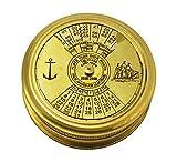 100 Years Pocket Calendar Compass 2.5 inch Pocket