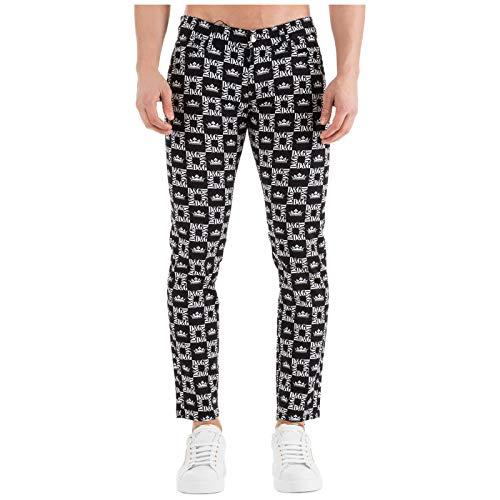 Dolce&Gabbana Men Trousers Logo Nero 34W