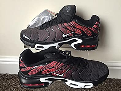 06ecdd0001 Nike Air Max Plus TN Tuned 1 Mens Trainers UK11 Rare Limited Edition Black/Red:  Amazon.co.uk: Shoes & Bags