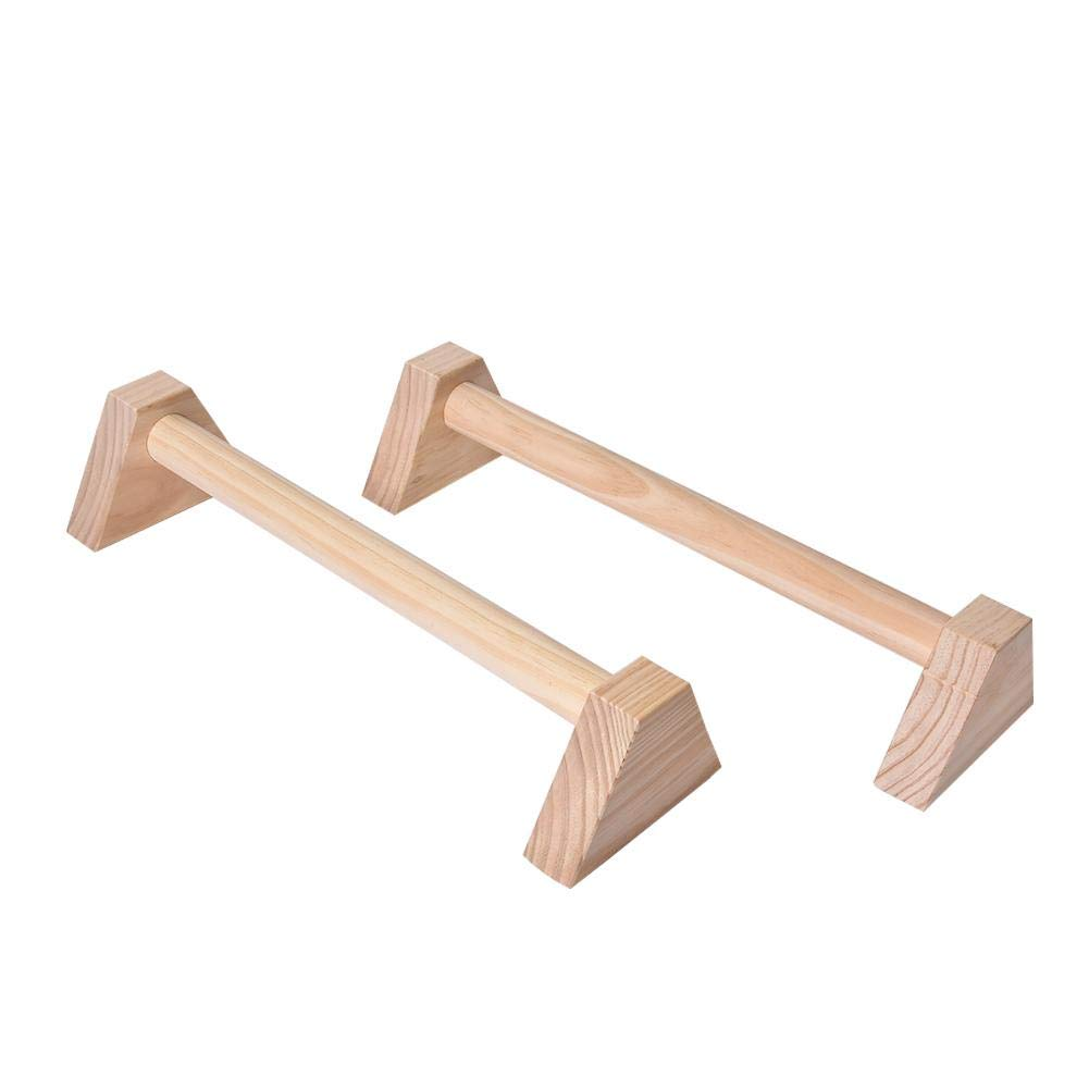 Fitness Push Up Stands Handles Push Up Bars, Wooden Push-Ups Double Bars Calisthenics Handstand Personalised Bars for Men Women Workout Muscle Ups, Pull Ups & Strength Training 1 Pair