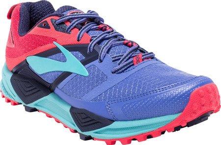 Brooks Cascadia 12, Zapatillas de Gimnasia para Mujer Azul (Baja Blue/paradise Pink/clearwater)