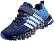 Unitysow Kids Sneakers Boys Girls Athletic Running Shoes Breathable Mesh Lightweight Comfortable Walking Sport