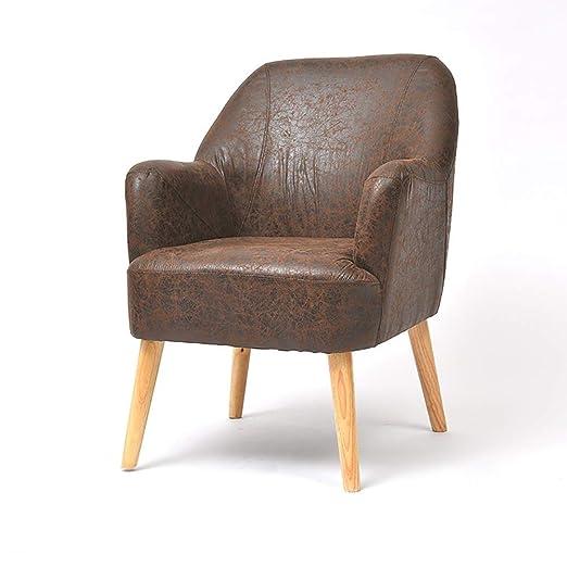 Sofá único de Cuero Chaise Lounge Asiento Acolchado Suave ...