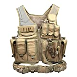 Goetland 600D Polyester Tactical Vest Outdoor Ultra-Light Combat Training Vest CS Adjustable S-XXL, Mud