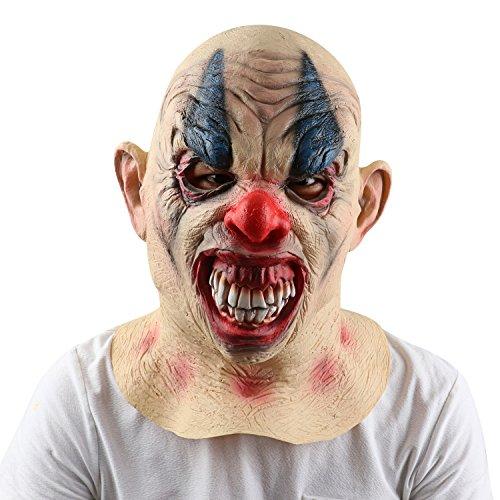 Monstleo Latex Scary Halloween Clown Mask horror Circus Clown Full Head (Clown Mouth Halloween Makeup)