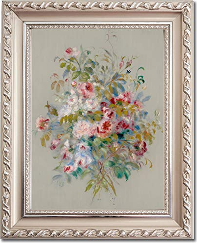 Ori Gallery Framed Canvas Print - Bouquet of Roses - by Pierre Auguste Renoir