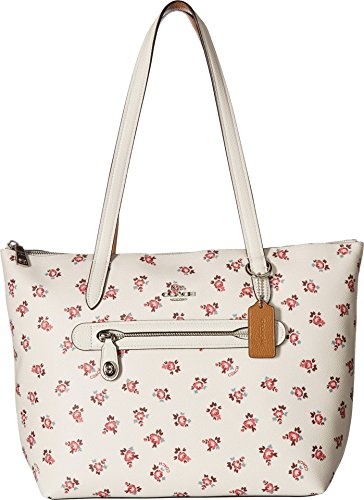 COACH Women's Floral Bloom Taylor Tote Sv/Chalk Multi One Size
