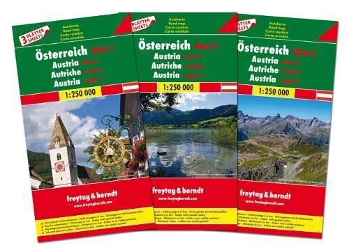 Austria 1:250.000: Wegenkaarten set 1:250 000 (Auto karte) por Freytag-Berndt und Artaria KG