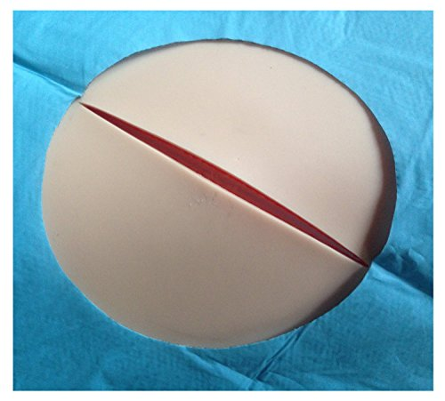 Skin Pad with Holder - 3 Layer FLESH SKINTONE COLOR with FREE 12 x Needles and FREE 1 x Needle Holder by Suturing Doctor (Image #1)