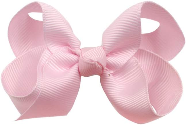 JOYOYO 40 Colors Boutique Grosgrain Ribbon Pinwheel 3 Hair Bows Alligator Clips For Babies Toddlers Teens Gifts