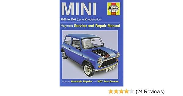haynes mini 1969 to 2001 up to x registration haynes service and rh amazon com 2009 Mini Cooper Owner's Manual 2004 Mini Cooper Manual