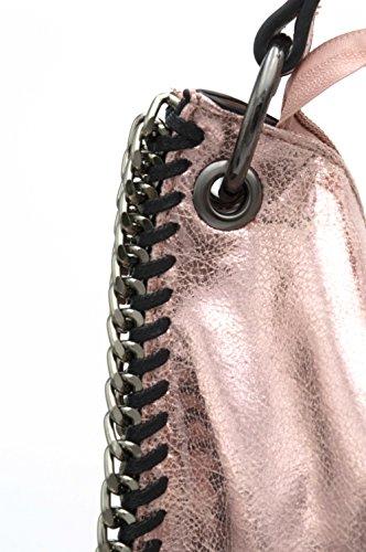 Shopper Femme Tout Chaînes Doré Rose Mode –Sac braillant Fourre Bordures porté –Chic – Sac Cabas en Effet Daim épaule Franges Paillette à Doré Sac à Pompon Main Souple Rose 6qx5wZnf