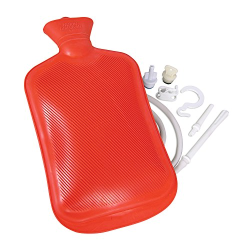 7.75' Overall (Jobar International - Deluxe Hot Water Bottle Kit,Holds 1.75 Quarts of Water)