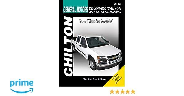 chevrolet colorado gmc canyon chilton 2004 12 haynes publishing