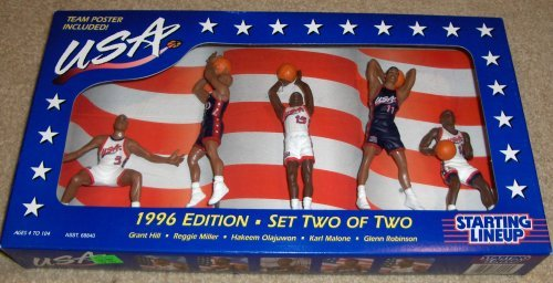 - 1996 USA Dream Team NBA Starting Lineup Edition Set Two of Two